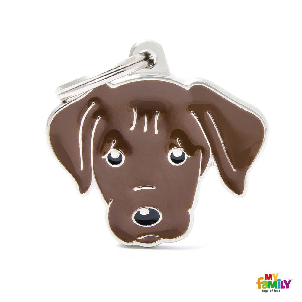 Známka My Family Friends Labrador hnědý