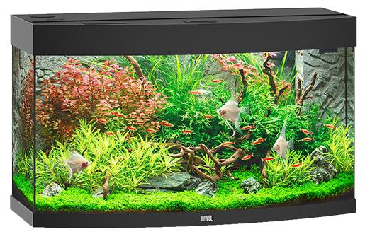 Akvárium set Vision 180 LED černé 92*55*41cm,180l