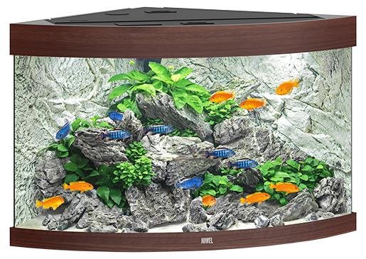 Juwel Akvárium set Trigon LED 190 98,5x70x60cm tm.hnědé 190l