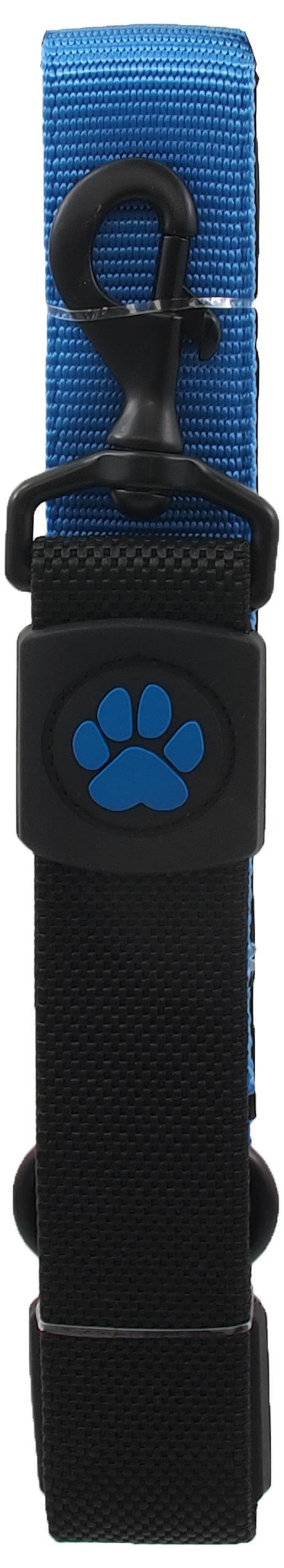Dog Fantasy Vodítko Active Dog Bungee Neoprene XL modré 3,8x55cm