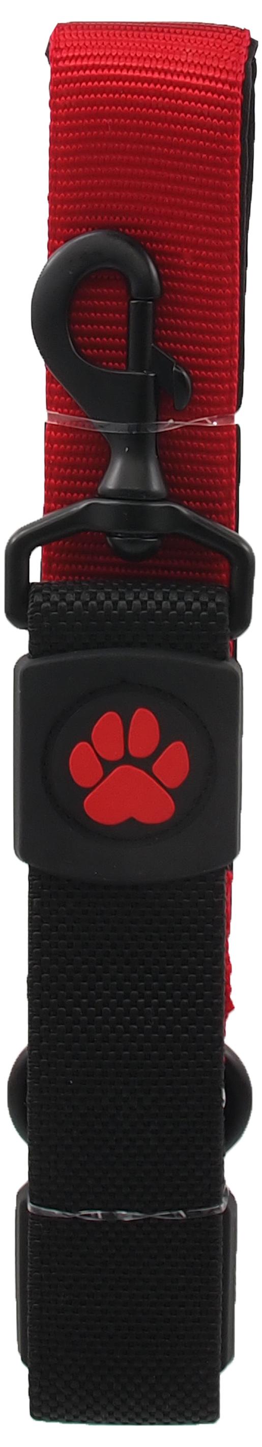 Dog Fantasy Vodítko Active Dog Bungee Neoprene XL červené 3,8x55cm