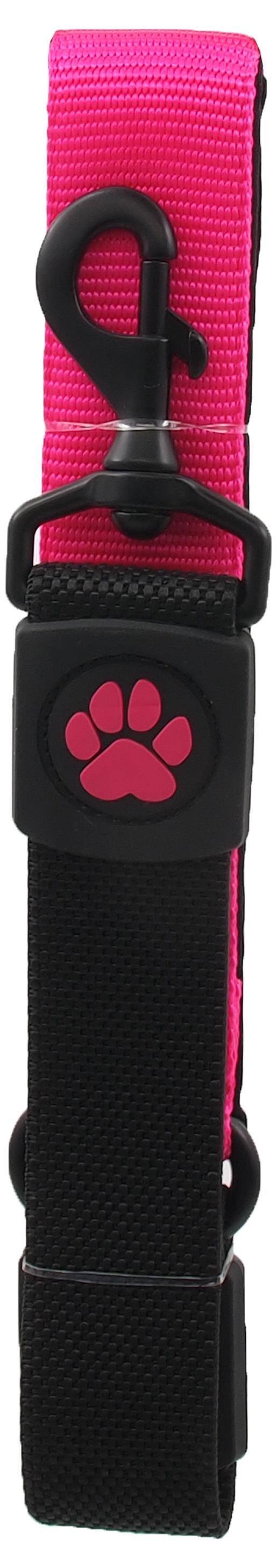 Dog Fantasy Vodítko Active Dog Bungee Neoprene XL růžové 3,8x55cm