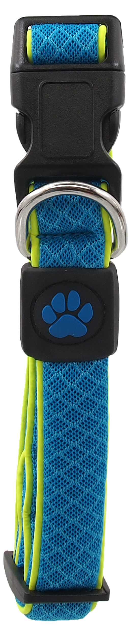Dog Fantasy Obojek Active Dog Fluffy Reflective M modrý 2,5x35-51cm