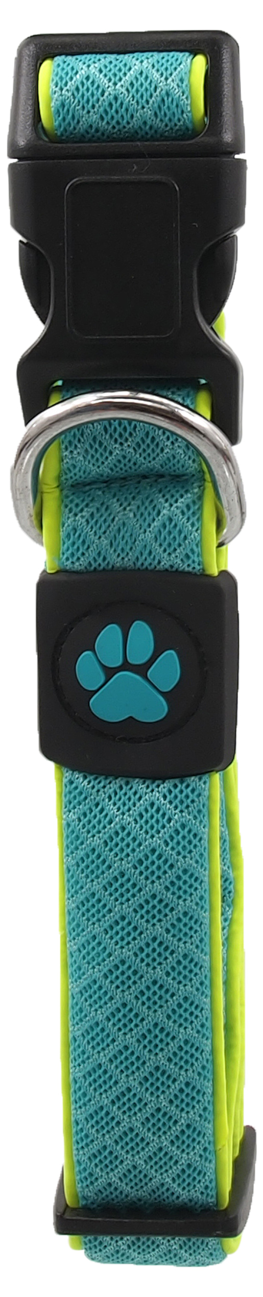 Dog Fantasy Obojek Active Dog Fluffy Reflective M tyrkys 2,5x35-51cm