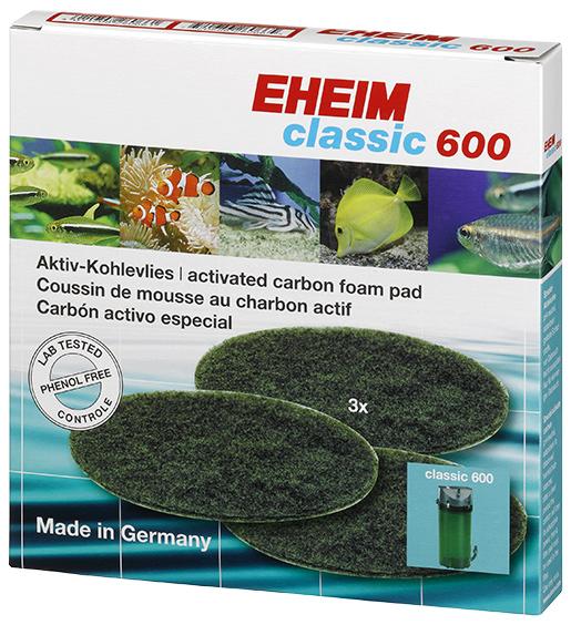 Náplň EHEIM molitan uhlíkový jemný Classic 600 3ks