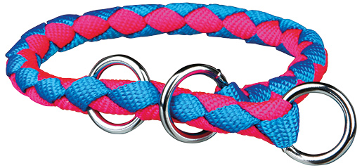 Obojek pro psy Cavo Trixie neonově modrá/neonově růžová S-M 35cm