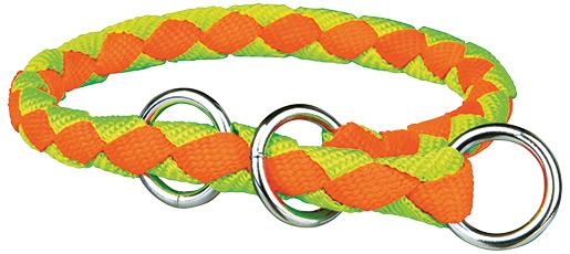Obojek pro psy Cavo Trixie neonově oranžová/neonově zelená S-M 35cm