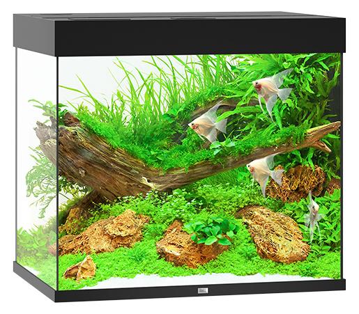 Akvárium set Lido LED 200 černá 70*51*65cm,200l
