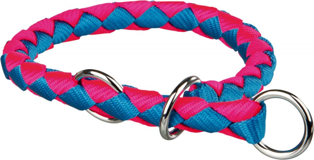 Obojek pro psy Cavo Trixie neonově modrá/neonově růžová M 39cm