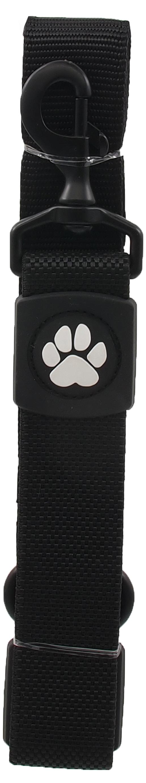 Dog Fantasy Vodítko Active Dog Bungee Neoprene XL černé 3,8x55cm