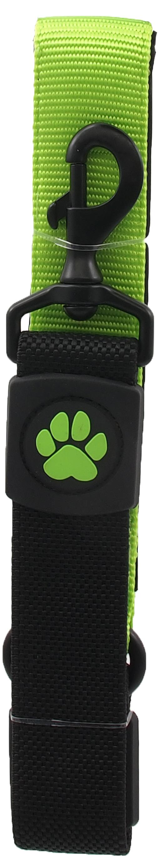 Dog Fantasy Vodítko Active Dog Bungee Neoprene XL limetka 3,8x55cm