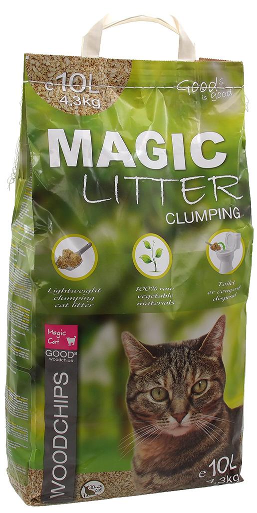 Magic Cat Kočkolit Magic Litter Woodchips 10kg