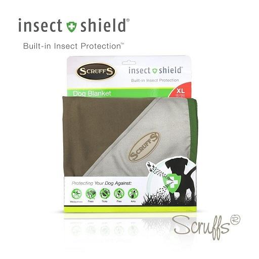 Deka Scruffs Insect Shield Blanket 145 x 110cm hnědá