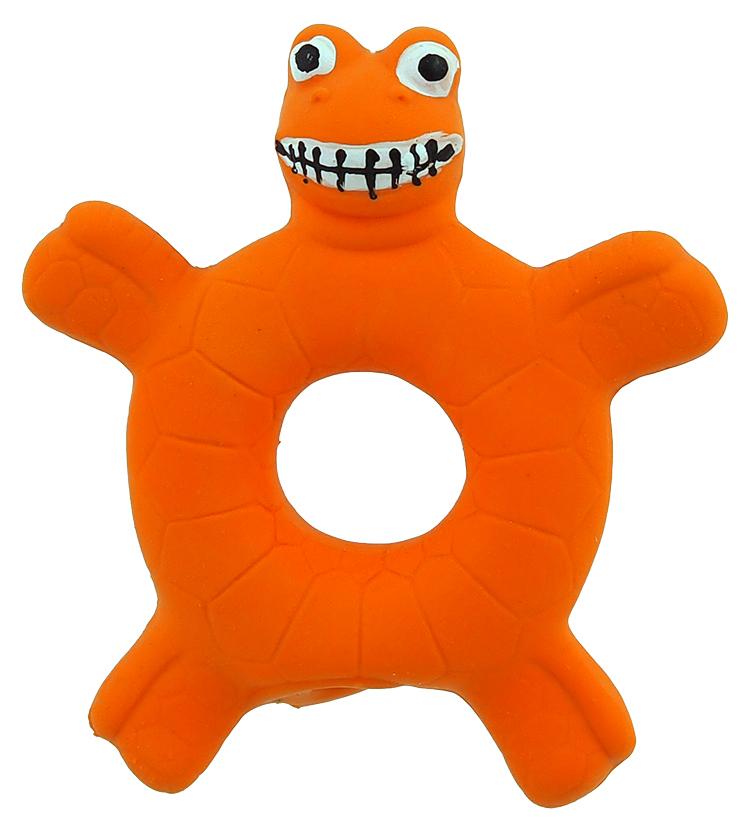Hračka Dog Fantasy Latex Želva oranžová se zvukem 10cm