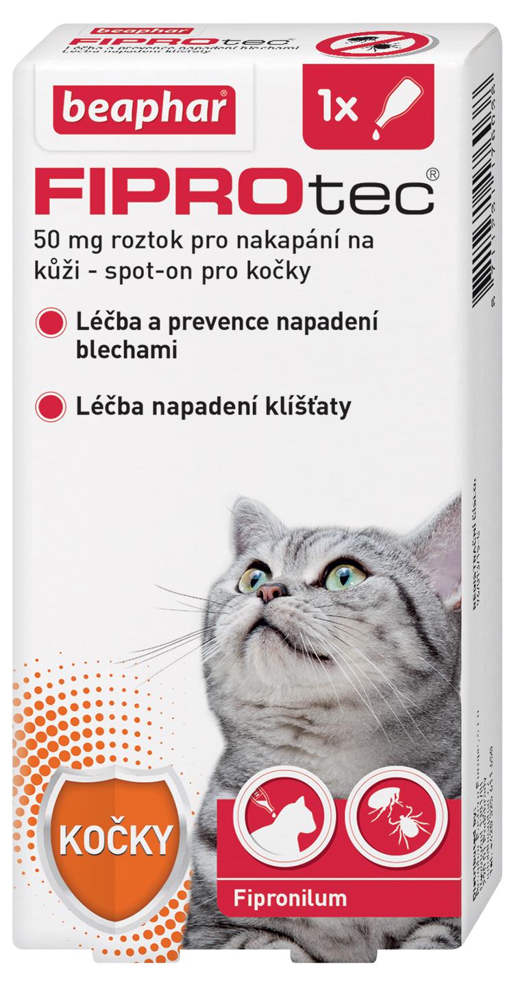 Beaphar Spot on Fiprotec pro kočky nad 1kg Beaphar Pipeta Spot on Fiprotec pro kočky od 2 kg