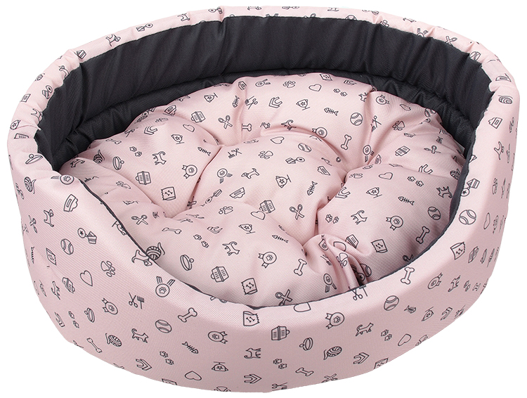 Pelech Dog Fantasy oval 60x51x17cm piktogram růžový
