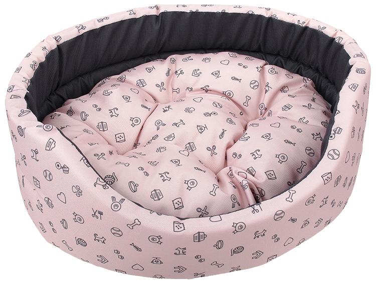 Pelech Dog Fantasy oval 100x87x22cm piktogram růžový