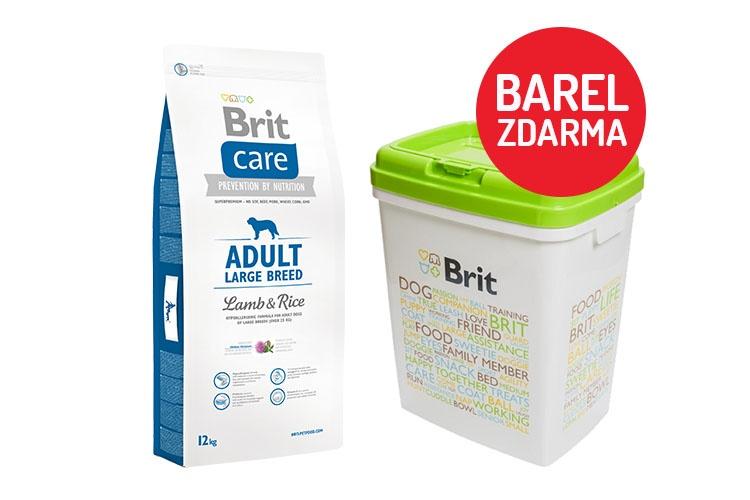 Brit Care Adult Large Breed Lamb & Rice 12kg + barel ZDARMA