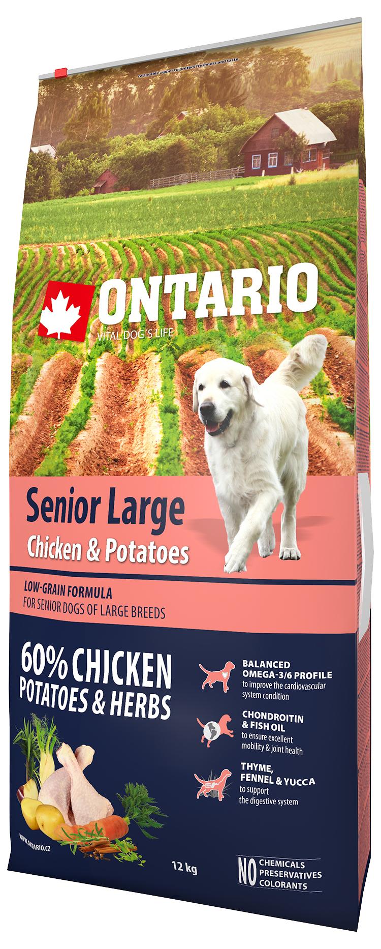 Ontario Senior Large Chicken & Potatoes 12kg