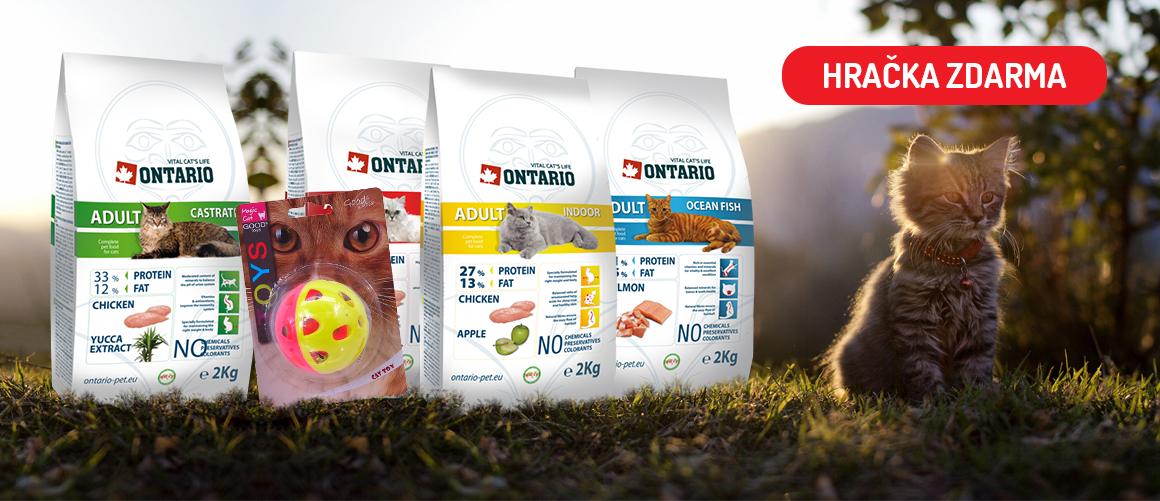 HRAČKA ZDARMA k nákupu krmiva Ontario 2kg