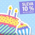 E-shop slaví 2. narozeniny ale dárek dostanete vy