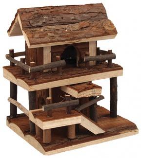 Krásný dřevěný domek pro malé hlodavce