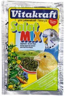 Sušené zelené krmivo pro okrasné ptactvo